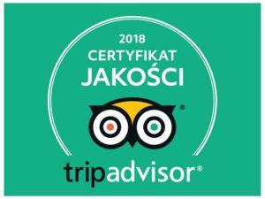 CERTYFIKAT JAKOŚCI 2018 – TRIPADVISOR !