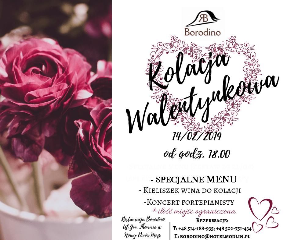 Kolacja Walentynkowa w Restauracji Borodino