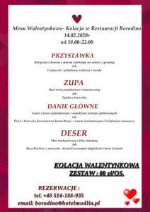Read more about the article Walentynki w Restauracji Borodino