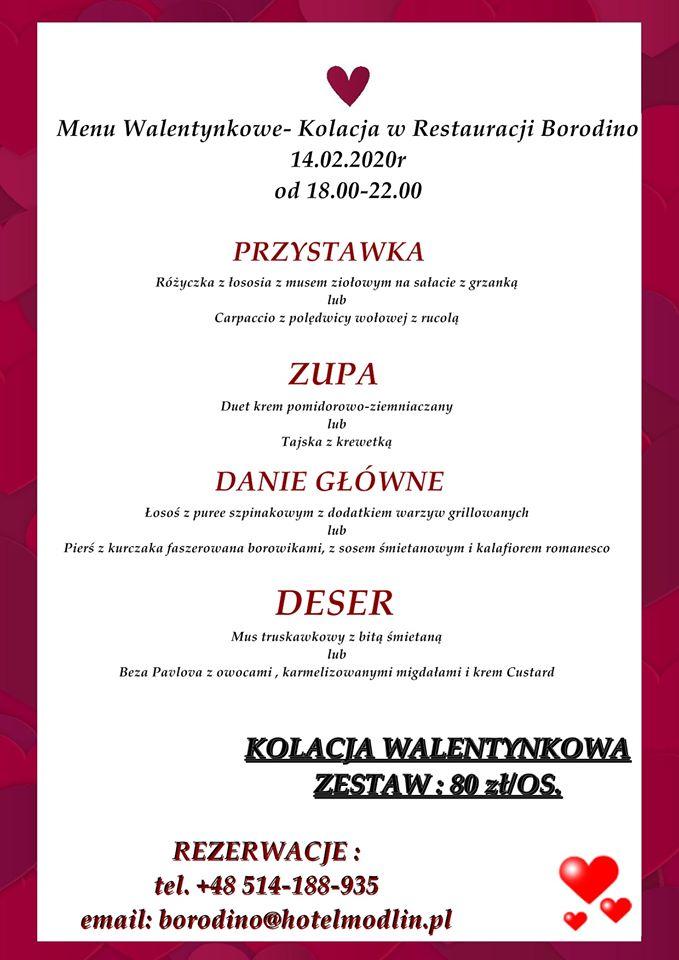 Walentynki w Restauracji Borodino