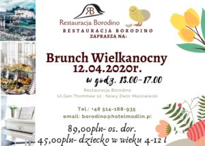 BRUNCH WIELKANOCNY/   12.04.2020